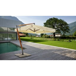 Elba Parasol with wooden...